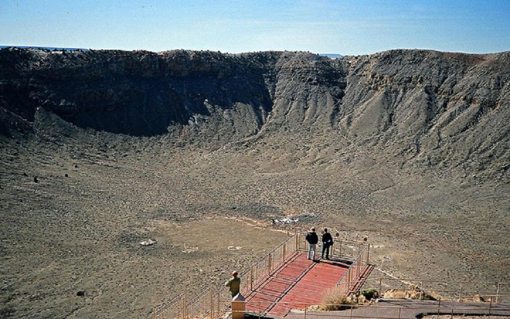 Meteor crash site