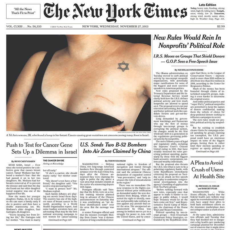 New York Times nipple photo