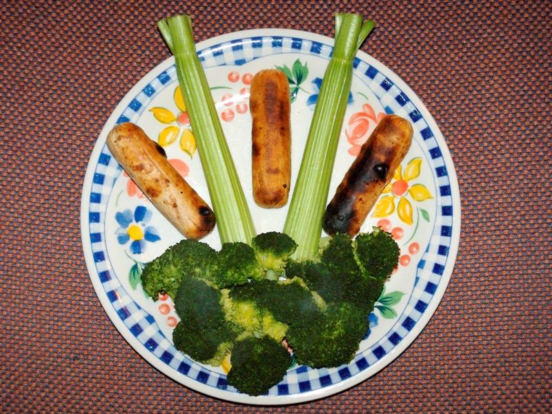 Broccoli and celery