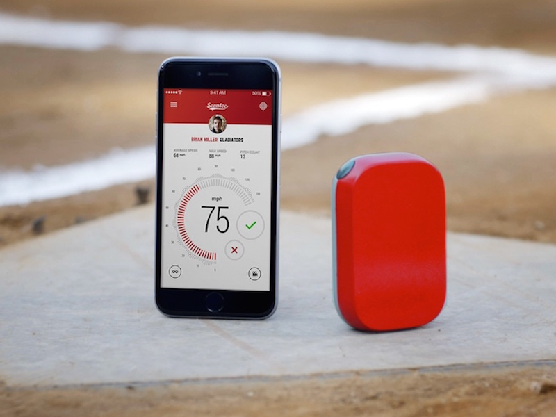 Scoutee Speed Radar For Smartphone Measures Baseball Pitching Speed