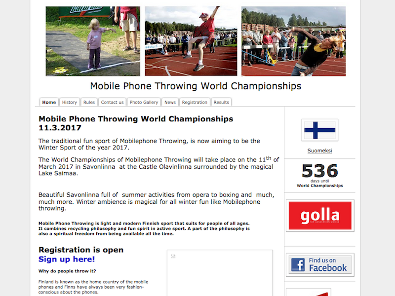 Mobile Phone Throwing World Chamionship