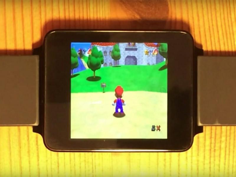 Nintendo 64 emulated games running on an LG smartwatch