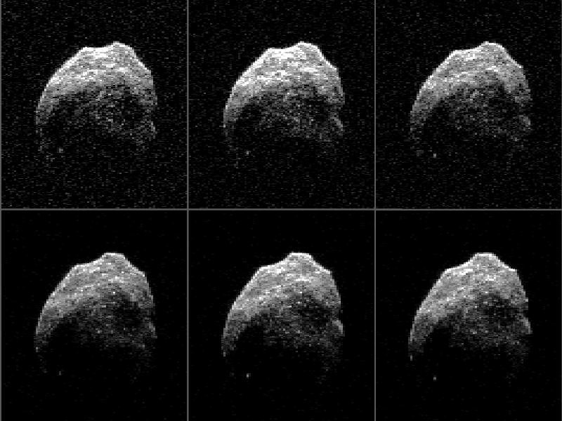 Asteroid 2015 TB145 radar images