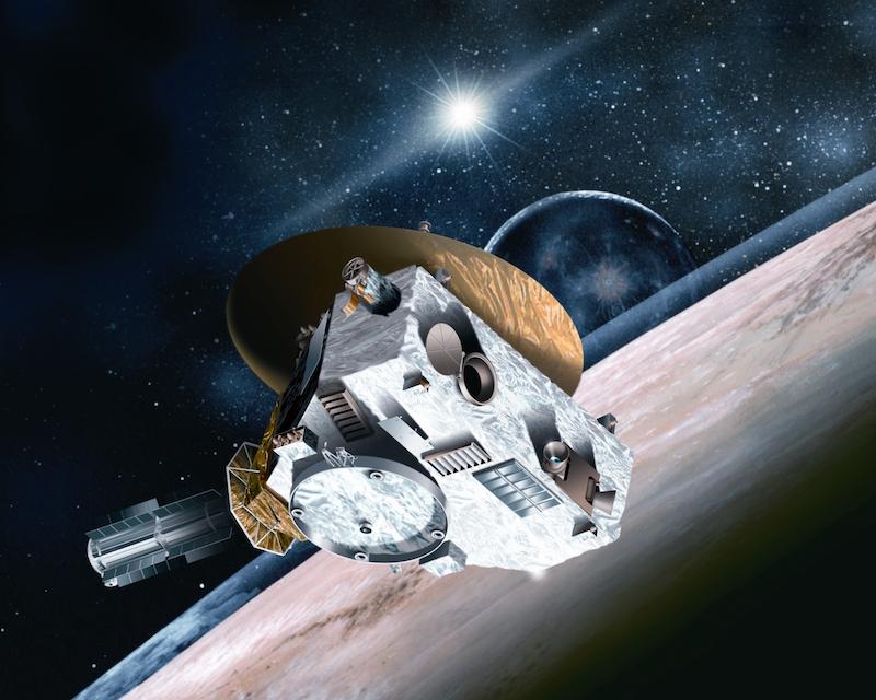 New Horizons at Pluto, artist's visualization