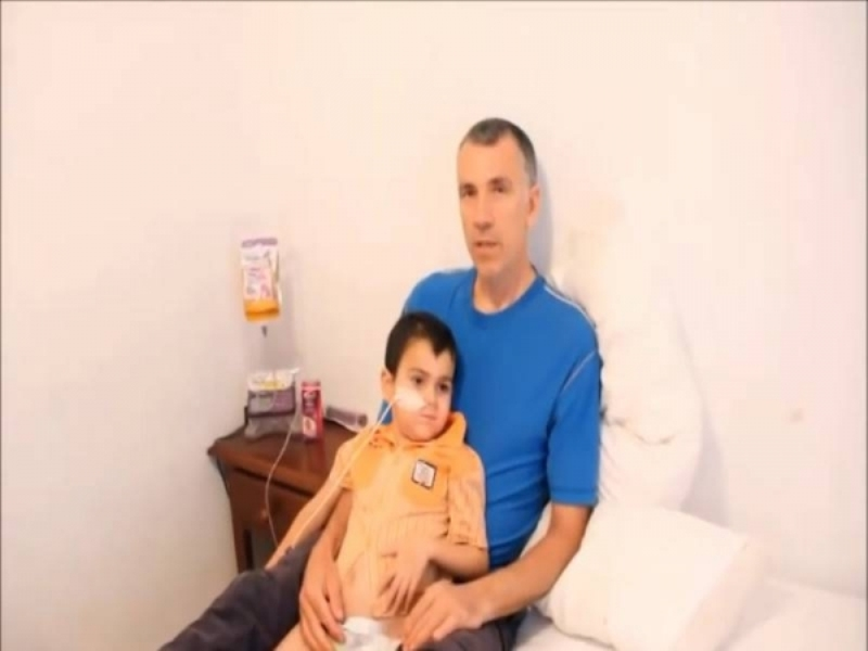 Ashya King with his father