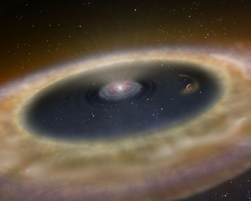 Exoplanet LkCA 15 b birth: artist's impression