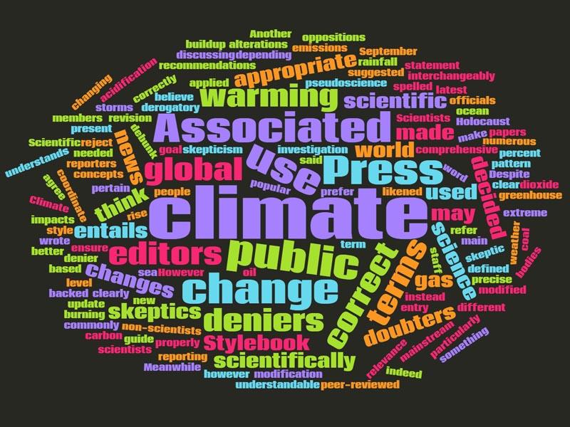 AP Stylebook Climate Change