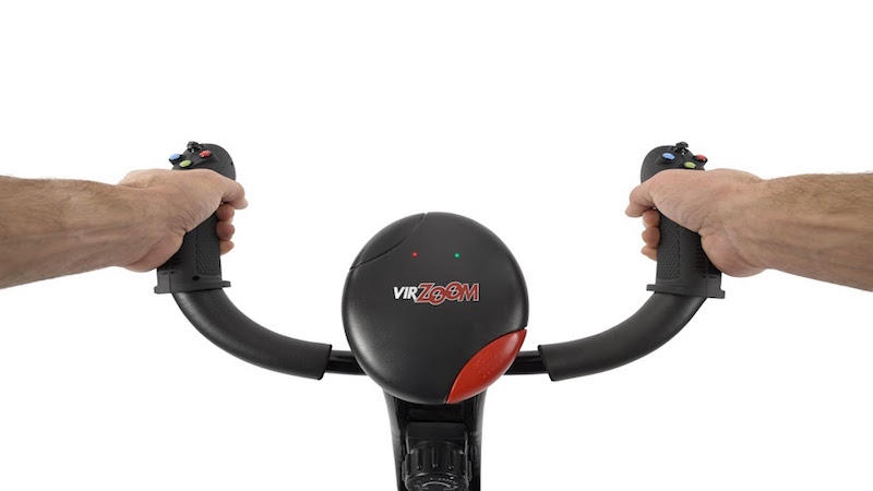The VirZoom Virtual Reality Exercise Machine Turns Workouts Into Interactive Gaming Experiences