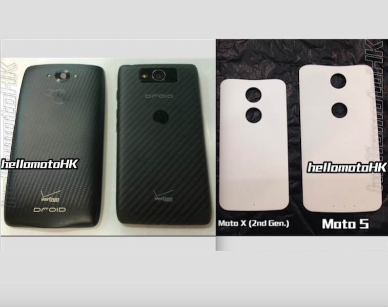 Verizon Droid Turbo and Moto S rear case leaked images