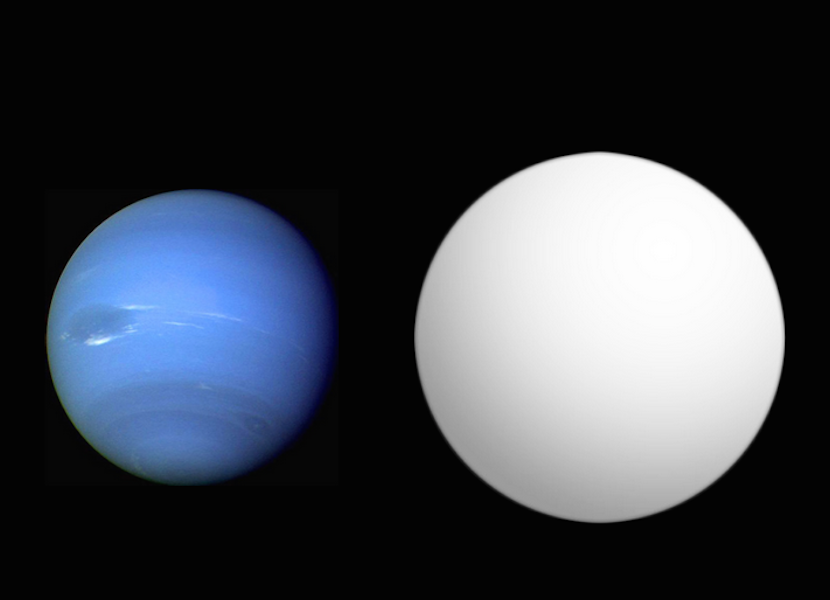 Neptune (left) compared with HAT P-11b