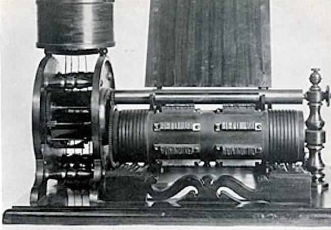 A photograph of Edison's voting machine, courtesy of Rutgers University.
