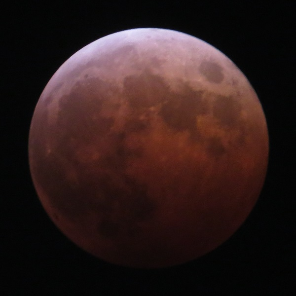 The moon turned red during the lunar eclipse