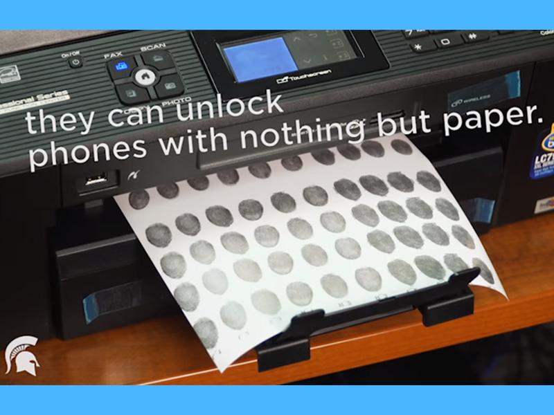 Fingerprint printing