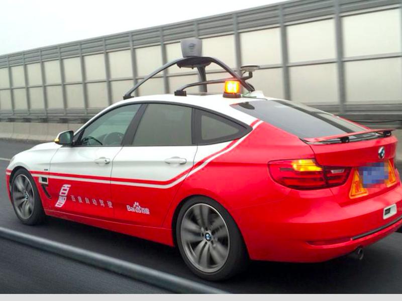 Baidu autonomous cars