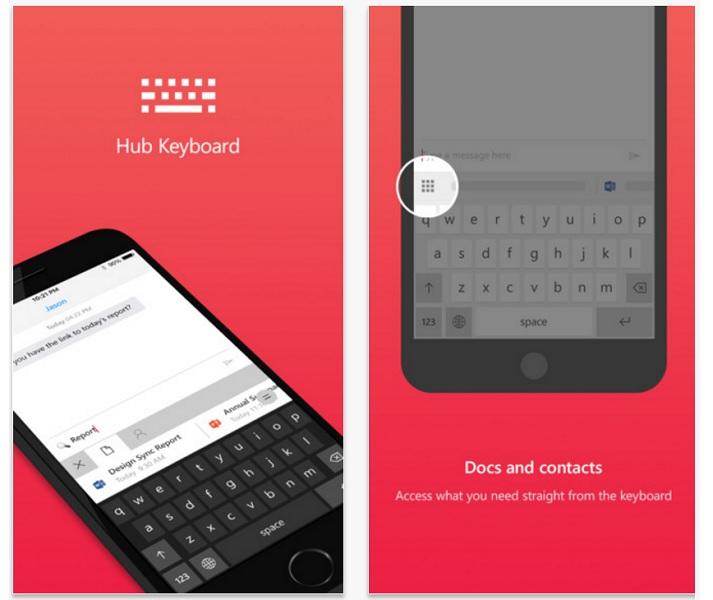 Microsoft Hub Keyboard For iOS