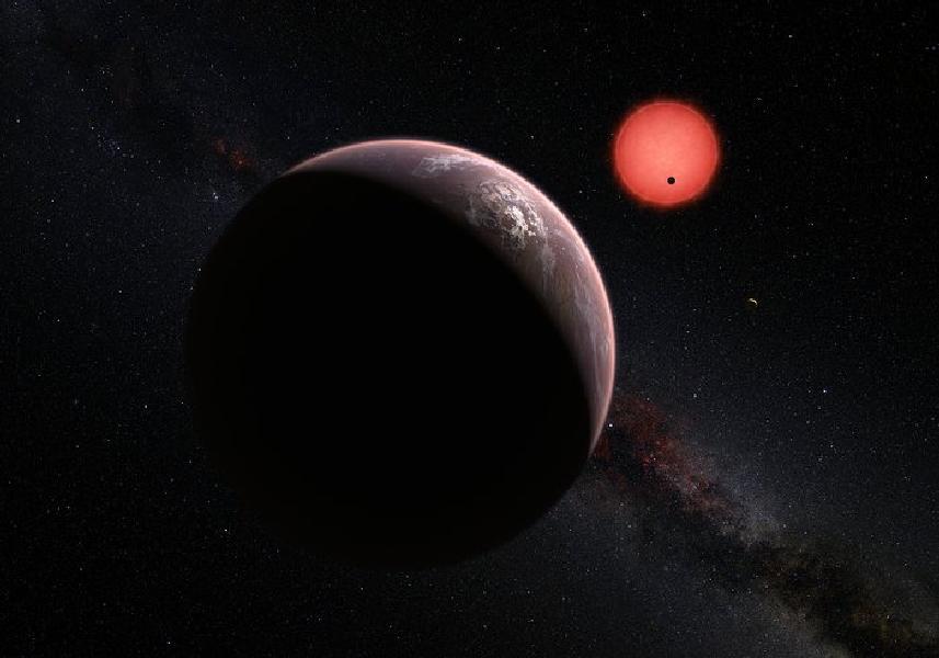 Three exoplanets orbiting dwarf star