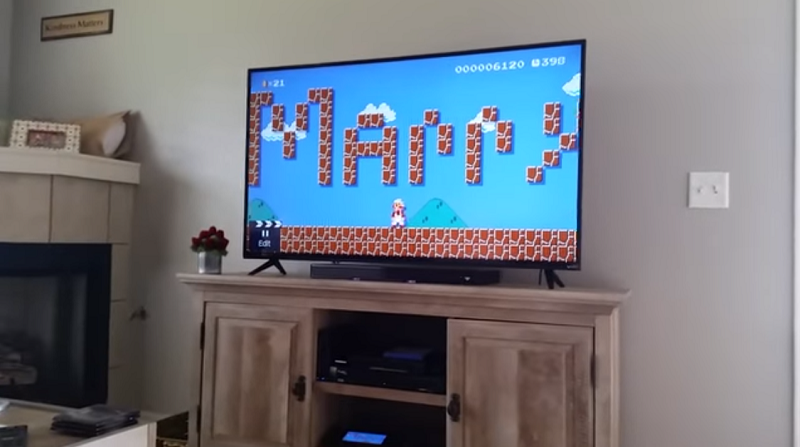 Super Mario Maker Marriage Proposal