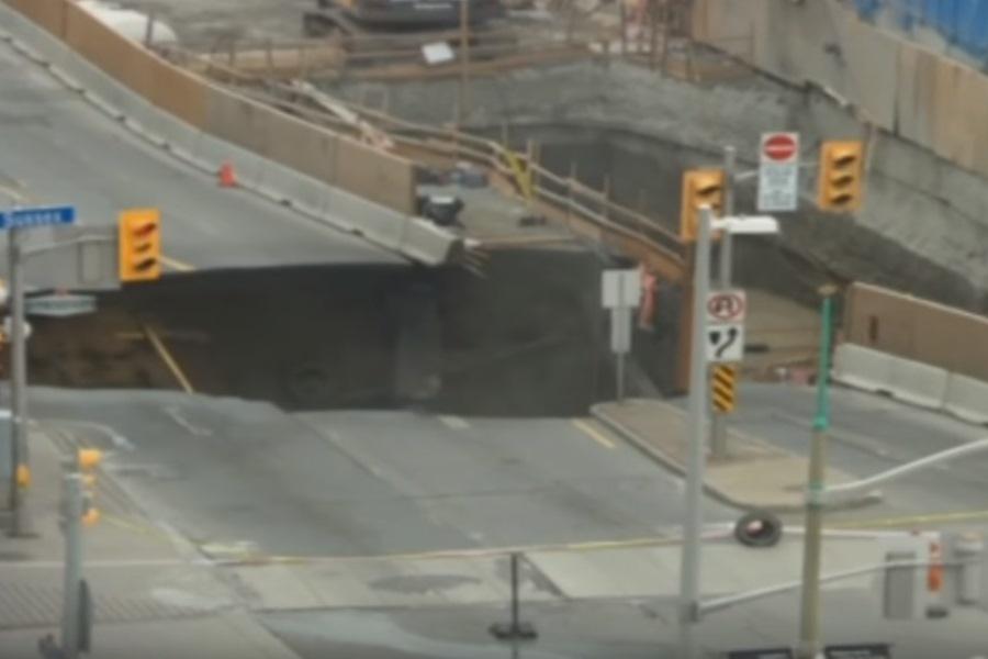 Sinkhole in Ottawa