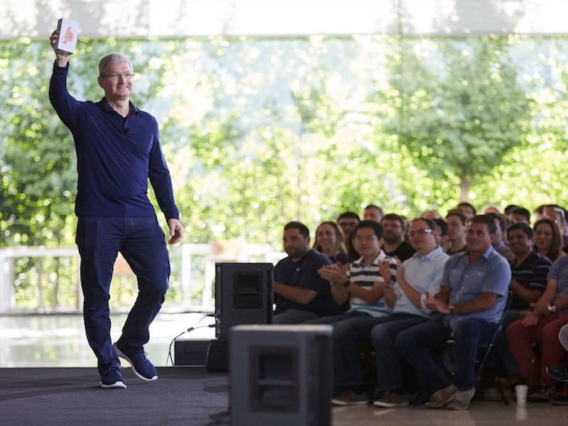 Tim Cook Announcing Apple Has Sold One Billion iPhones