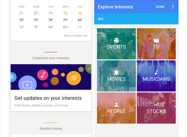 Google Now Is Making Its Personal Assistant More Personal With 'Explore Interests' Feature