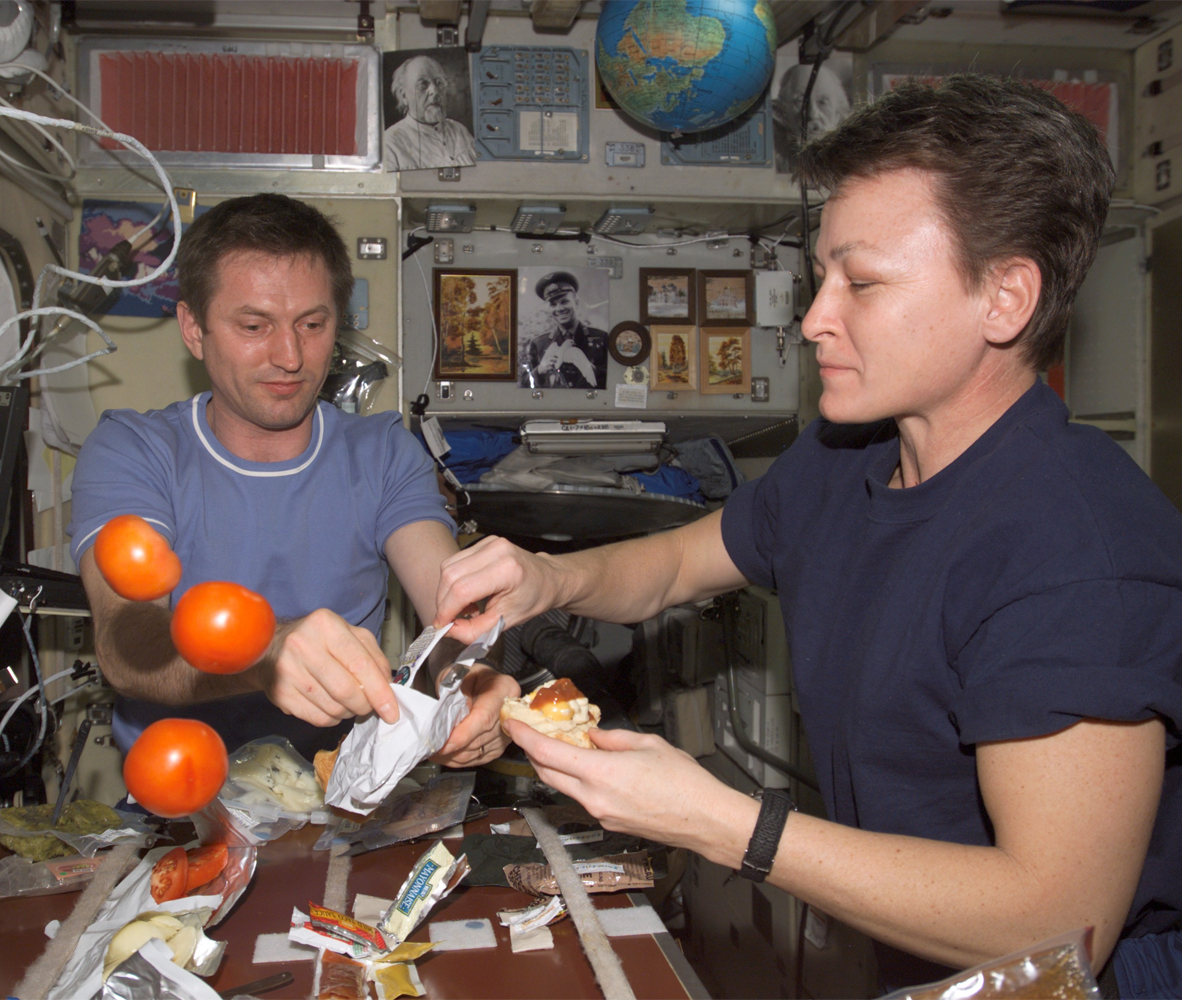 Dining on the ISS