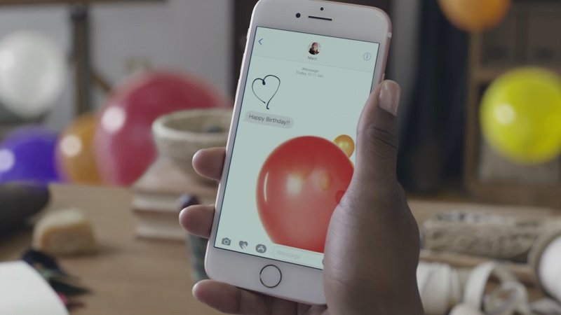 Apple iOS 10 iMessage Screen Effects