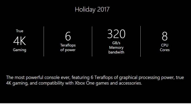 Project Scorpio Holiday 2017