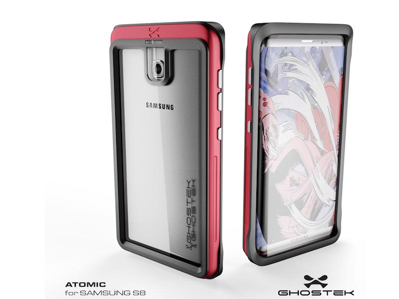 Samsung Galaxy S8 Render In Ghostek Atoimic Case
