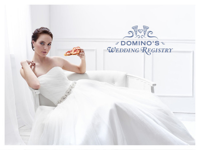 Pizza Lovers Can Now Create At Wedding Registry At Domino's