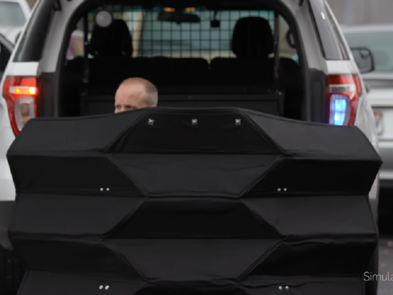 Engineers Develop Origami-Inspired Bulletproof Shield To Protect Police Officers