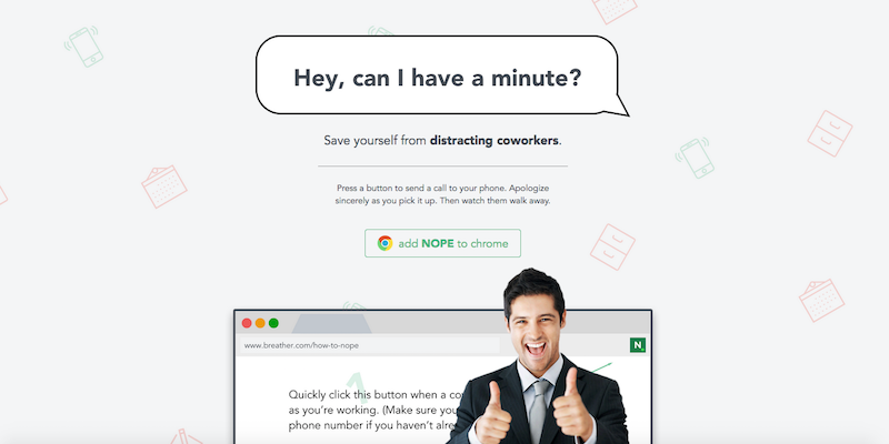 NOPE Is The Chrome Extension For Ignoring Annoying Coworkers