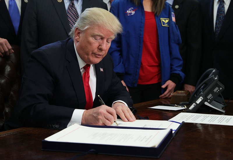 President Donald Trump Participates In A Bill Signing Ceremony At White House, March 21