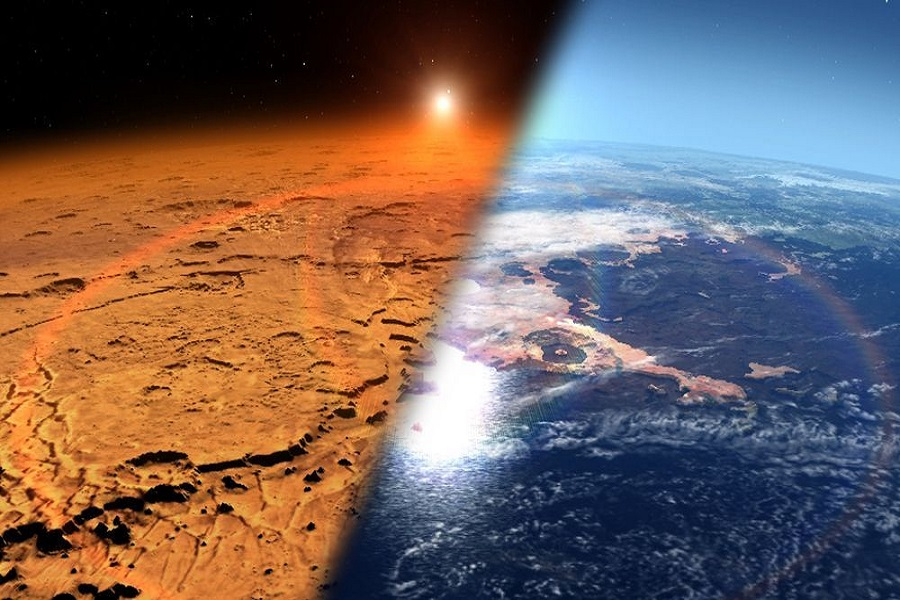 Mars: Then And Now