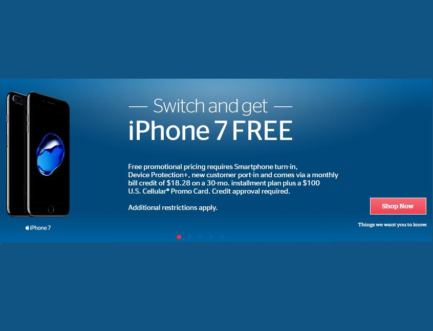 U.S. Cellular iPhone 7 Promotion