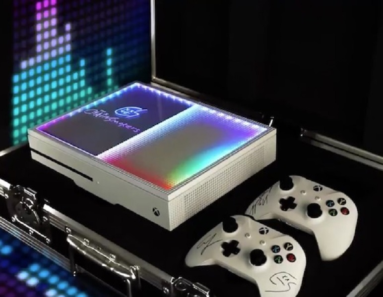 Custom Xbox One S By The Chainsmokers
