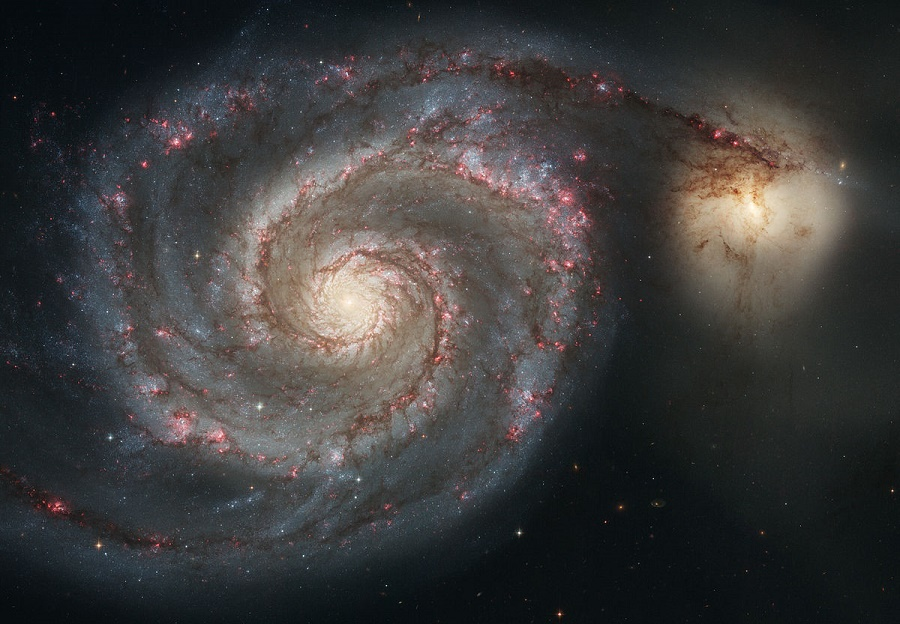 Two Whirlpool Galaxies Spotted By The Hubble Telescope
