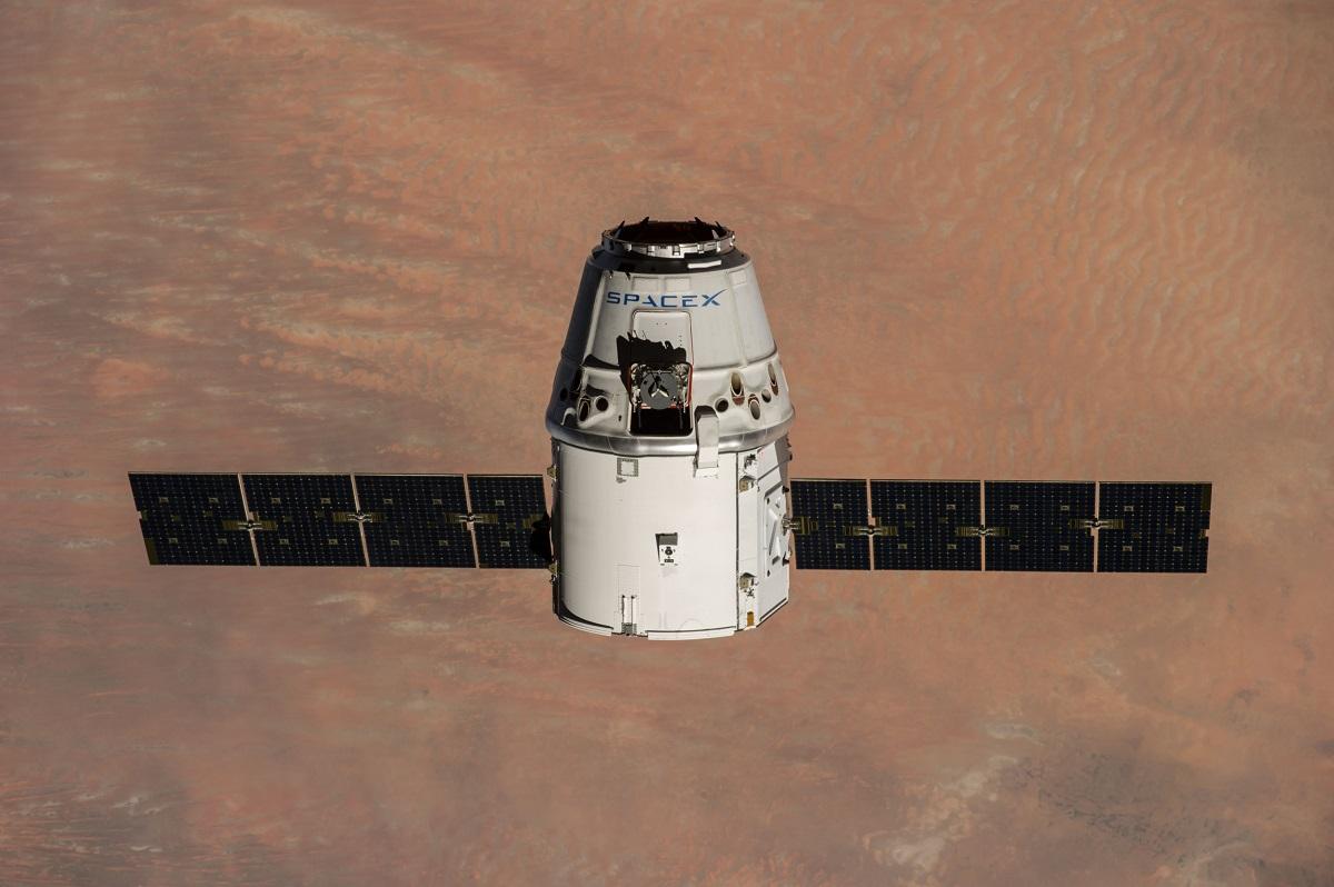 Rendering Of SpaceX's Dragon Capsule Floating In Orbit