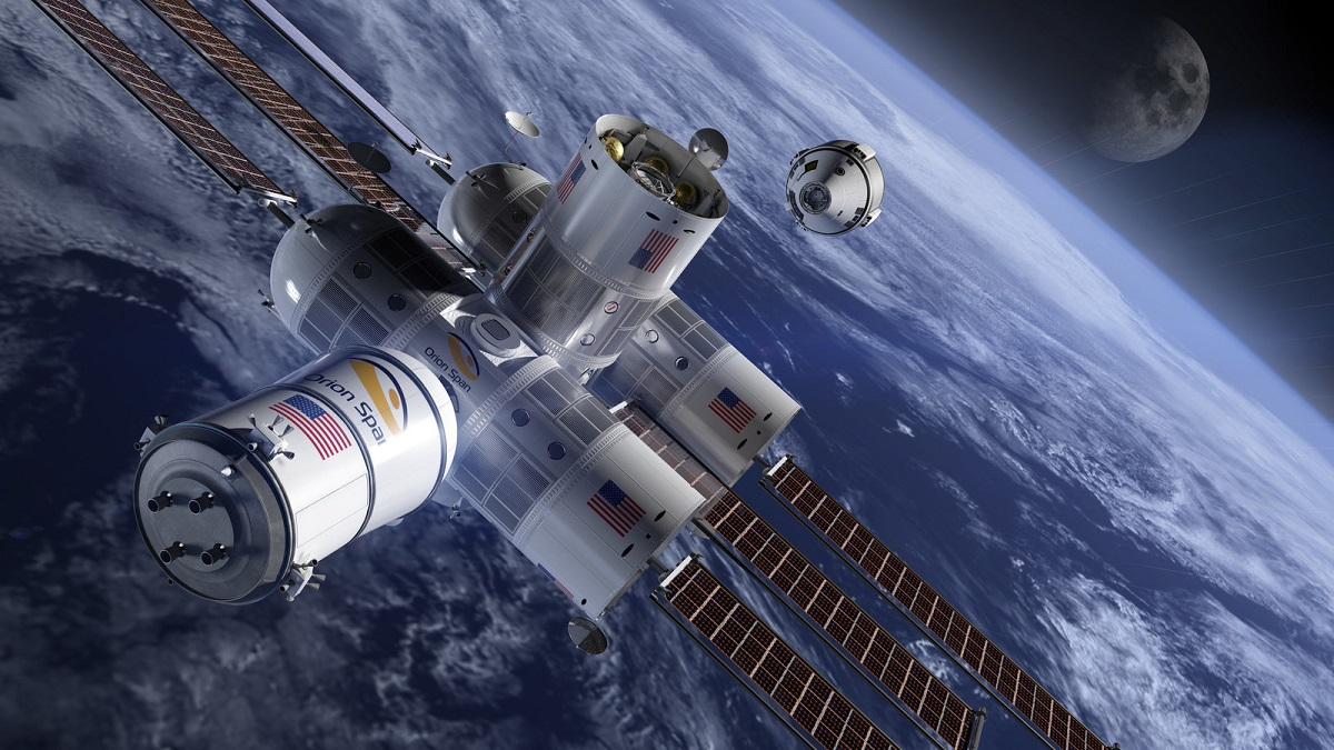 An Artistic Illustration Of First Hotel In Space