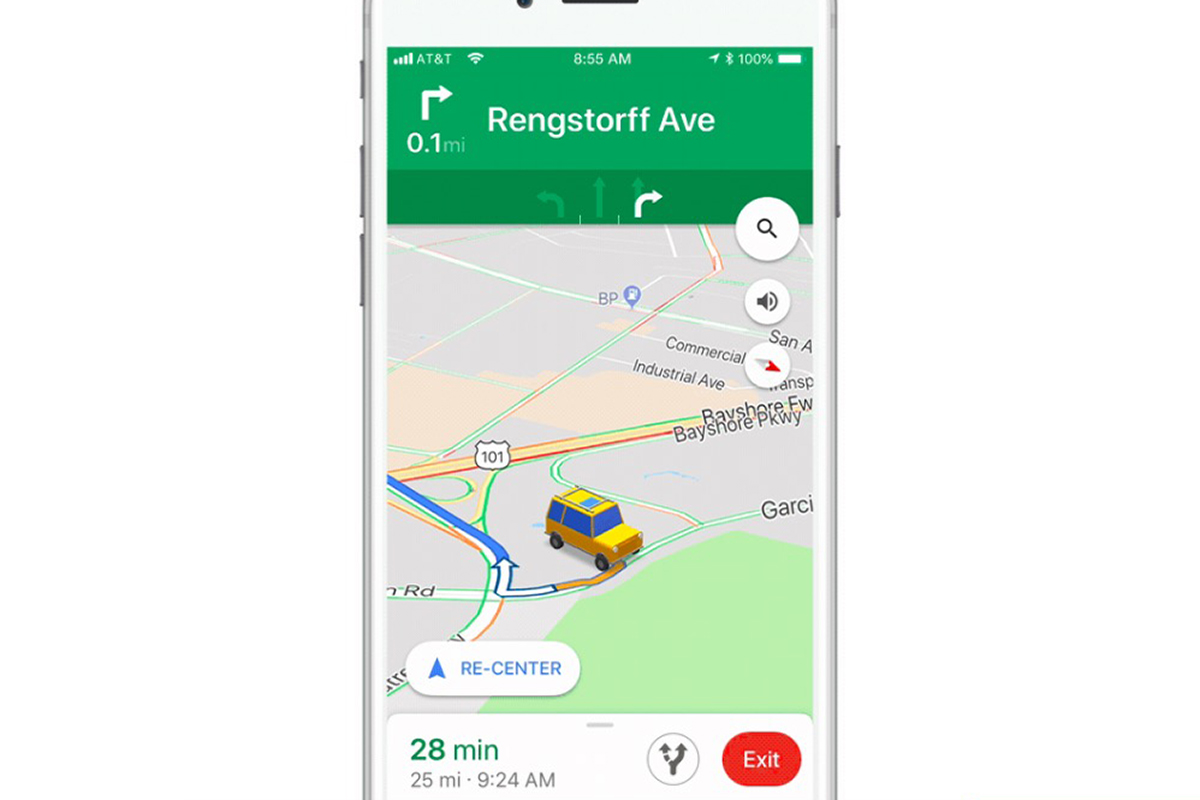 Google Maps For iOS Update Adds New Car Icons To Replace The Boring Navigation Arrow