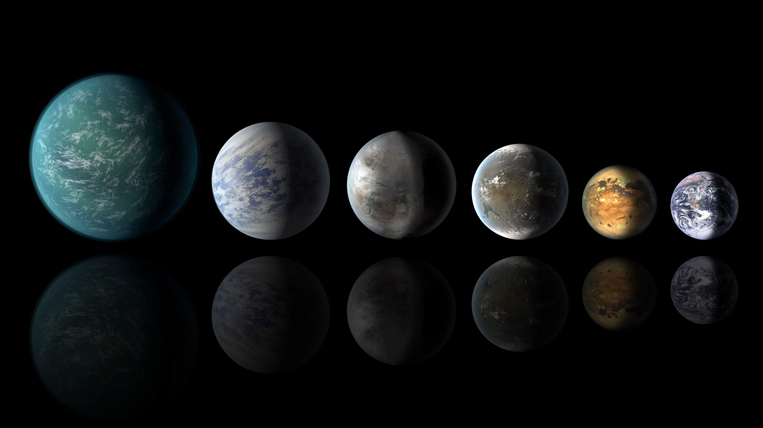 Pantheon of Planets Similar to Earth Artist Concept