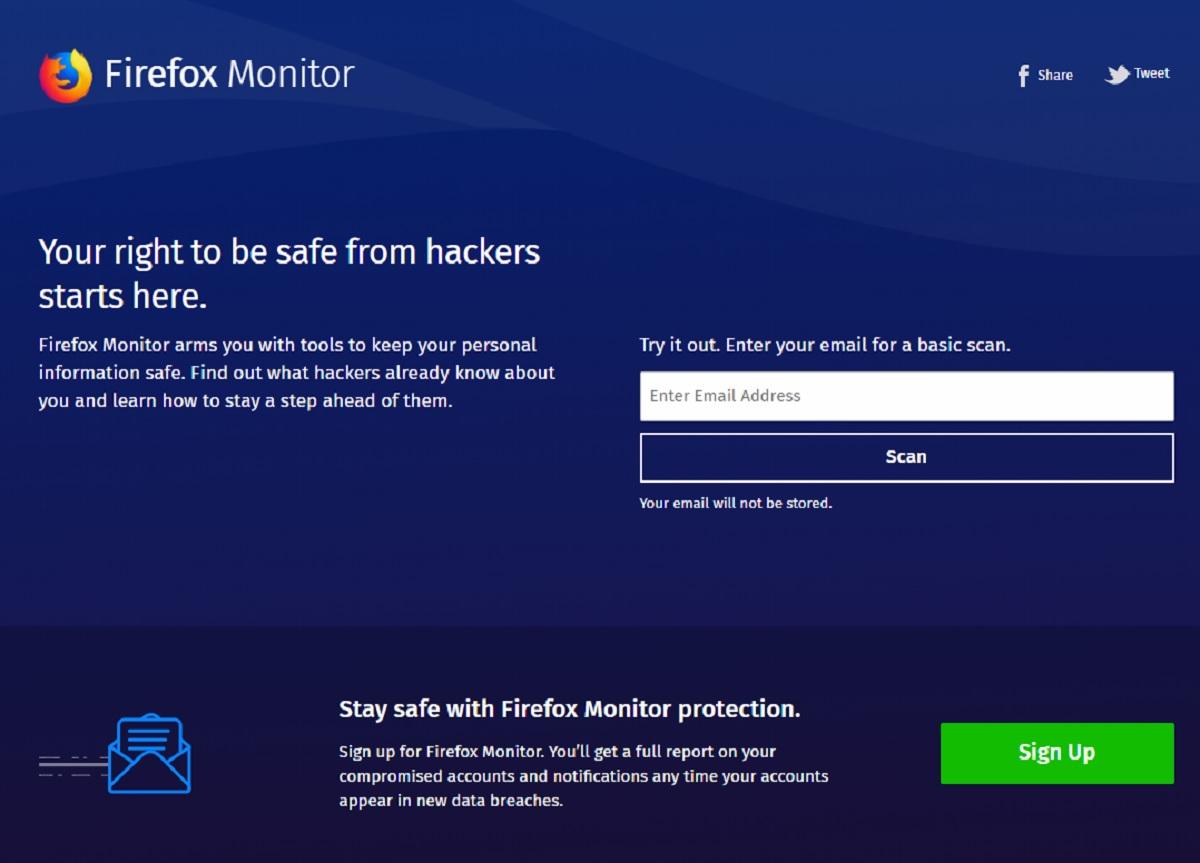 Mozilla's Firefox Monitor