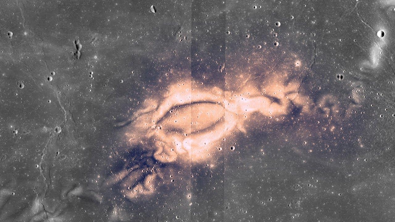 Sunburn scars on lunar surface