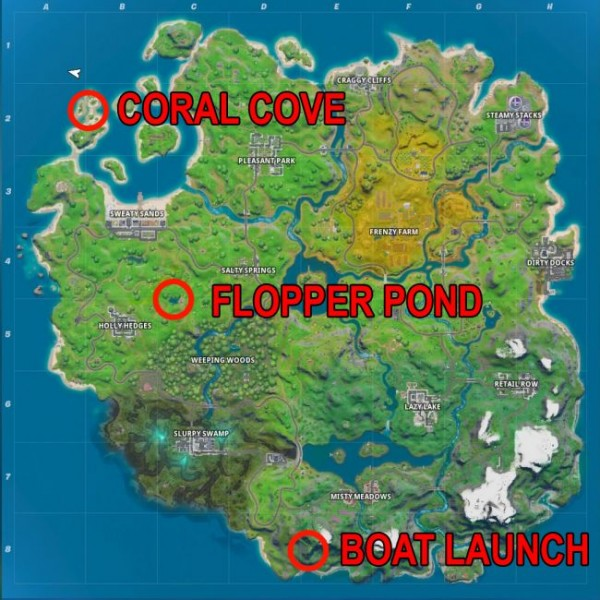 Fortnite Dockyard Deal Challenge Locations Of Coral Cove