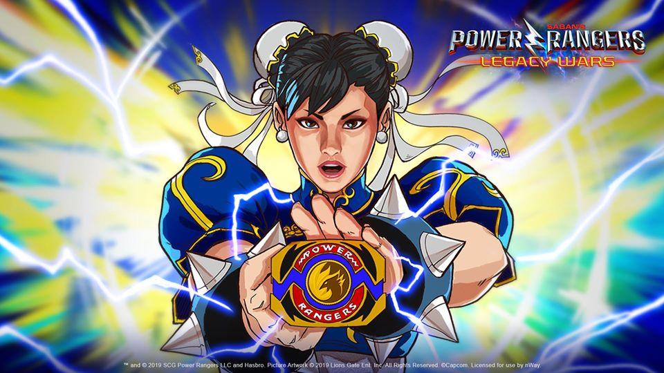 Chun-Li joins Ryu as a Power Ranger fighting against evil Rangers in Legacy Wars