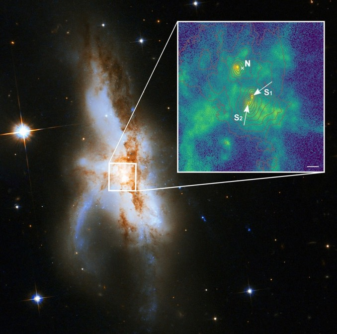 This is the first known galaxy to have three supermassive black holes