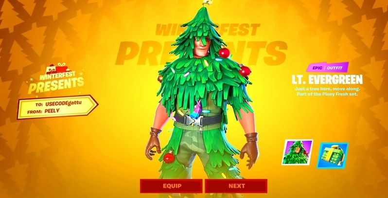 3 Steps on Getting Your Own 'Lt. Evergreen' Christmas Skin ...