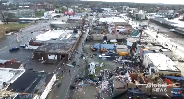 [DRONE FOOTAGE] Nashville Tornado Kills 25 People and Leaves 45,000 Homes without Power Supply