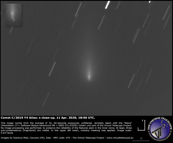 Comet Atlas Said to be Brighter Than Venus Now Officially Dies in Space