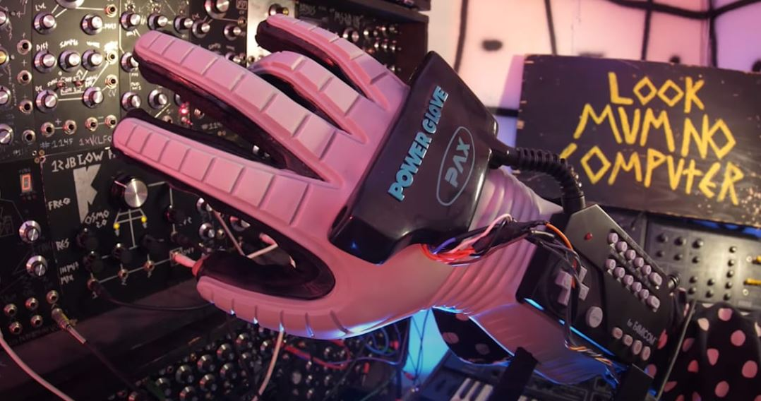 Sam Battle Hacked Nintendo's Legendary Power Gloves For His Modular Synth Setup; Electronic Tunes Can Be Adjusted By Wriggling Fingers