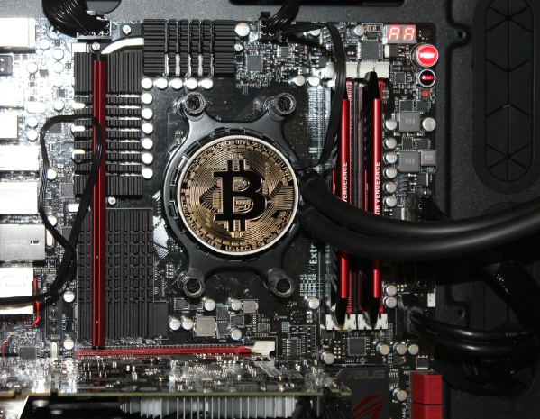 mine cryptocurrency on computer
